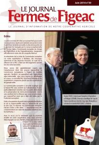 Dacian Cilos et raymond Lacombe inaugurent le siège social de FermesdeFigeac à Lacapelle Marival dans le LOT(46)